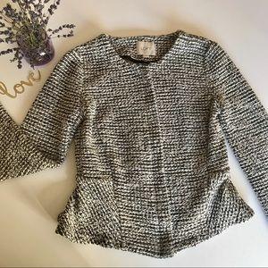 LOFT Grey Zip Blazer